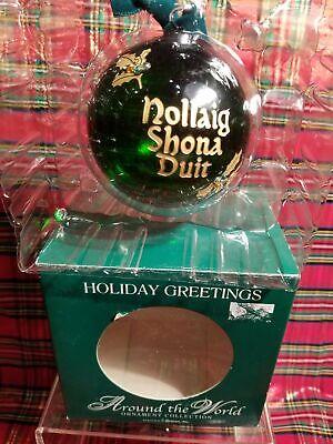 Irish Christmas hanging Balls- Nollaig Shona Duit = Merry Christmas Christmas. ()