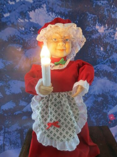 "Vintage 18"" Tall Telco Motionettes Mrs. Clause Illuminated and Animated Figure"
