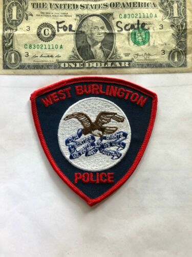 West Burlington Iowa Police Patch Un-sewn great shape