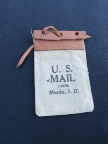 Vintage Small U.S. Mail Bag Souvenir Murdo, South Dakota, SD
