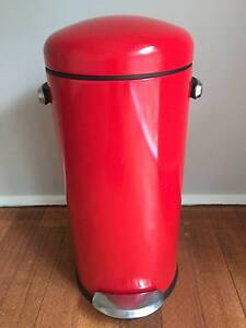 Simple Human red retro pedal bin - 30 litres Belgrave Heights Yarra Ranges Preview