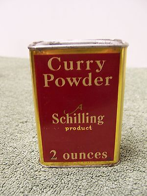 Vintage A Schilling Product  Curry Powder Tin 2oz