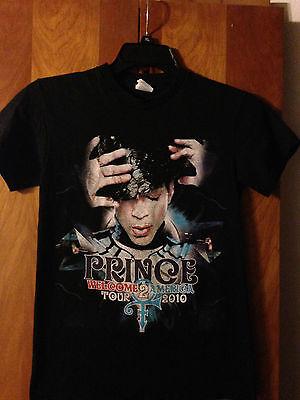 Prince - Rare 2010 Welcome 2 America tour - Black t-shirt - Small