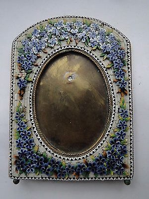 ANTIQUE MICRO MOSAIC PICTURE FRAME CIRCA 1870, SMALL SIZE, VICTORIAN & BEAUTIFUL
