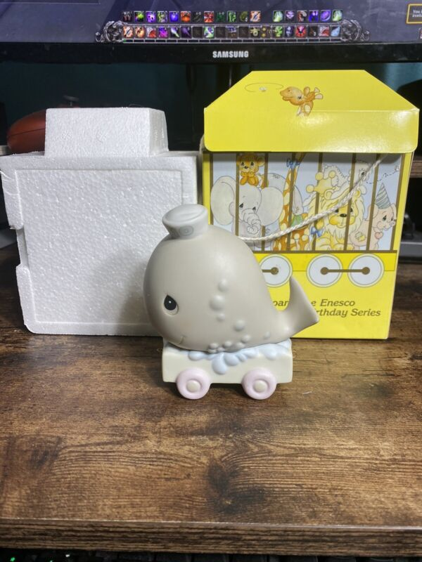 Precious Moments Birthday Train Series Whale 10 Years Old In Original Box