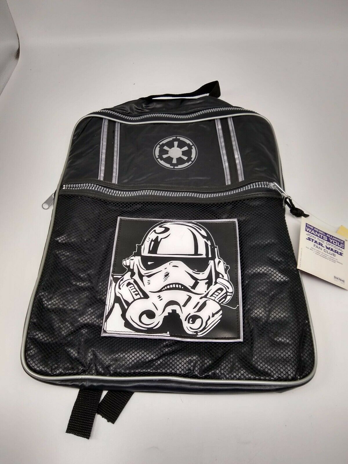 Star Wars 1996 Stormtrooper Kids Vinyl Backpack - Never Been Used