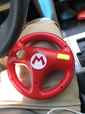 Nintendo Wii U Red Mario Kart 8 Steering Wheel Mario Red Racing 2014 Official