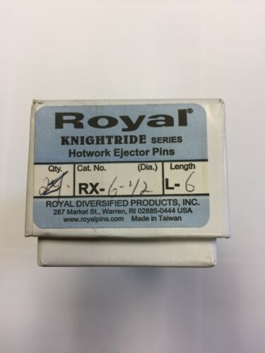 ROYAL RX-6-1/2-L6 RX KNIGHTRIDE SERIES H-13 Hotwork Ejector Pins BOX OF 8