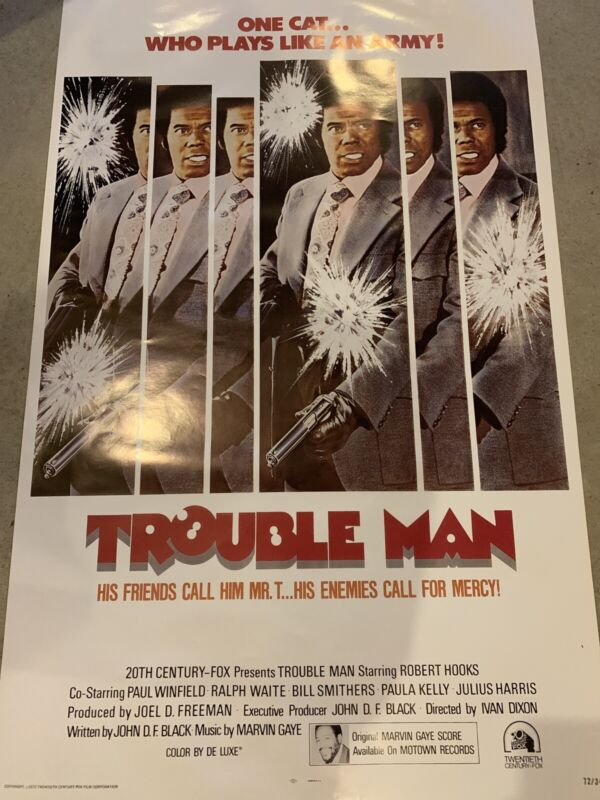 """Marvin Gaye Trouble Man Poster 41"""" x 26"""""""