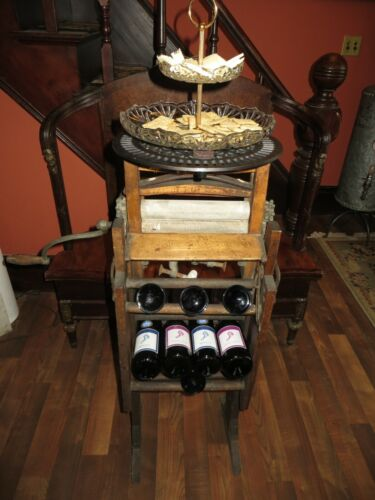 1895 Wooden Wringer Washer Wine and Cheese Bar