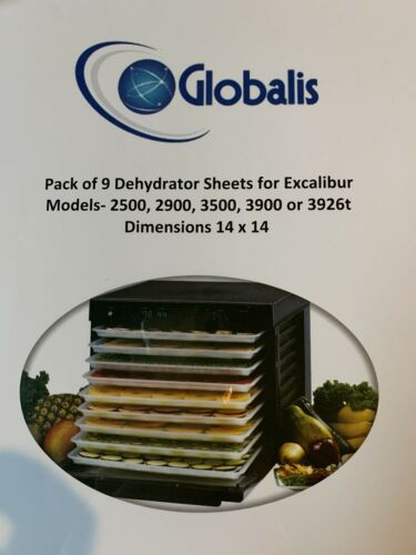 Globalis Food Dehydrator Sheets 14 x 14 -Excalibur 2500 290