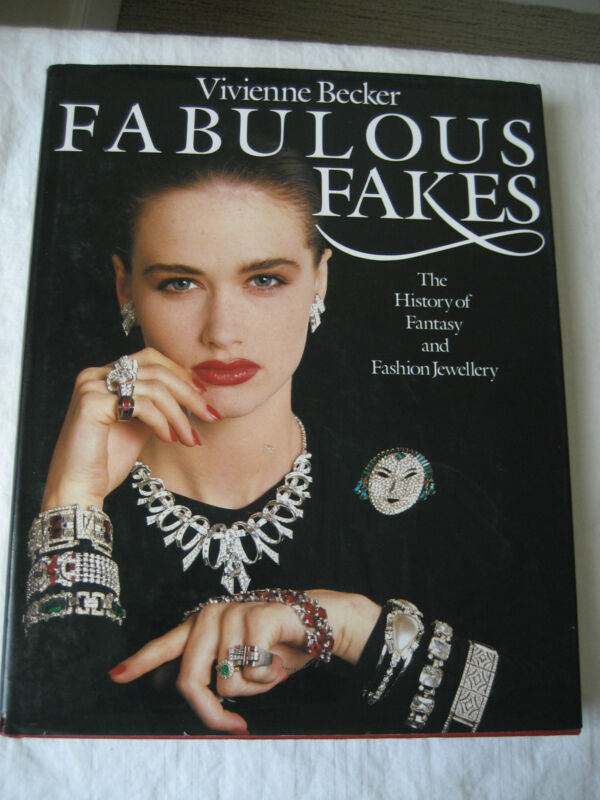 """VINTAGE"""" FABULOUS FAKES """"HISTORY OF FASHION JEWELRY BOOK BY VIVIENNE BECKER"""