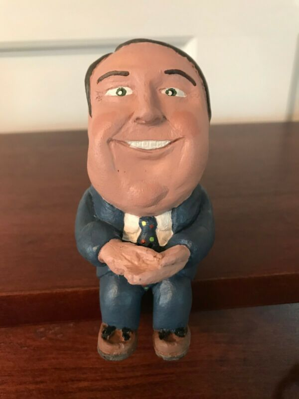Rush Limbaugh Figurine Shelf Sitting Rushkin 1994 Rare Collectible Signed
