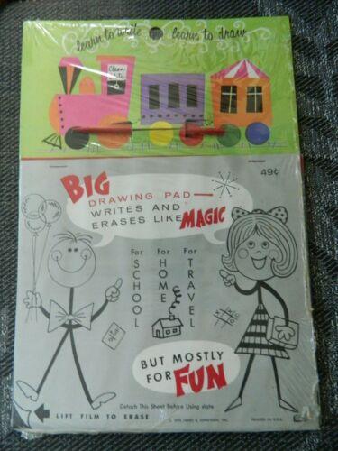 Vintage 1974 James & Jonathan Train Railroad Clean Slate Big Drawing Pad Toy New