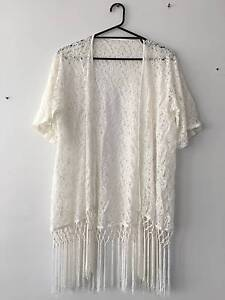 White lace throw over top Cronulla Sutherland Area Preview