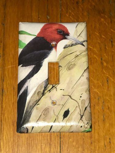 CLASSIC WOODPECKER WILD BIRD LIGHT SWITCH COVER PLATE B