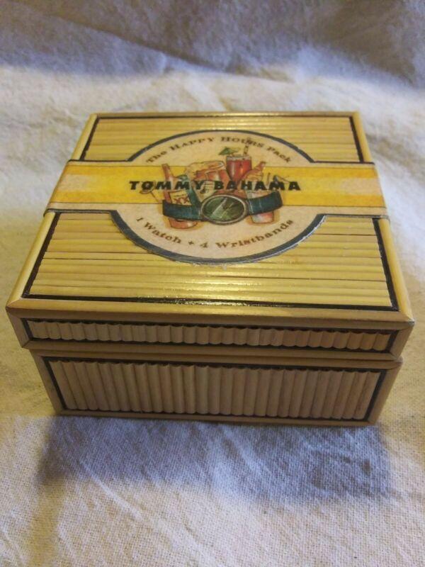 Tommy Bahama Box Tiki Tropical Man cave Genuine Reed Vintage Unique watch box