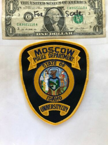 Moscow Idaho Police Patch Un-sewn in great shape
