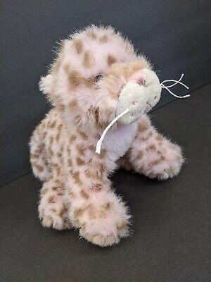 Webkinz Strawberry Cloud Leopard Pink Brown Spots HM466 Ganz Plush 9