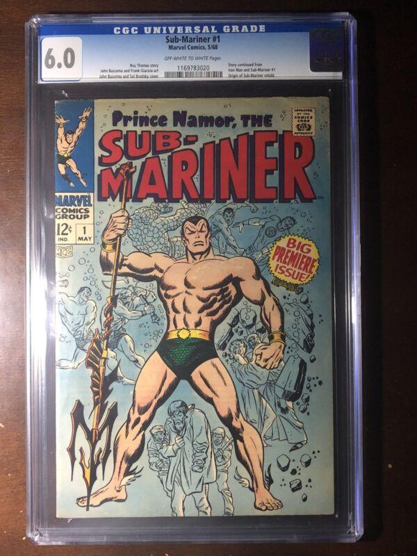 Sub-Mariner #1 (1968) - Premiere Issue! - CGC 6.0!!! - Key!