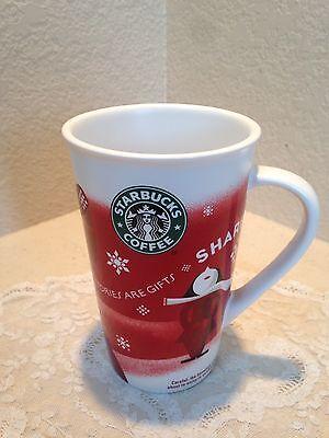 Starbucks Holiday Christmas Tall Coffee Cup Mug China 2010