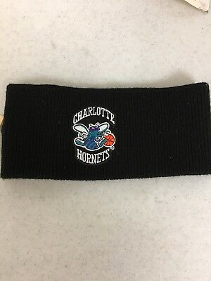 Retro Charlotte Hornets Black Knit Winter Headband Free Shipping