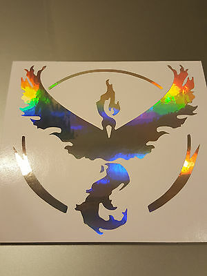 Neo-Chrome TEAM VALOR Symbol Window Vinyl Decal Sticker Pokémon Pokemon Go ()