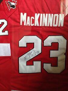 Autographed NATHAN MACKINNON jersey