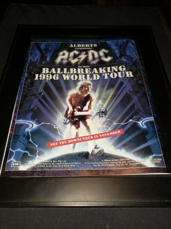 AC/DC Ballbreaker Tour Rare Original Promo Poster Ad Framed! #3