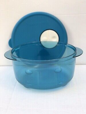 Tupperware Rock N Serve 800ml Soup Bowl Microwave Container BLUE