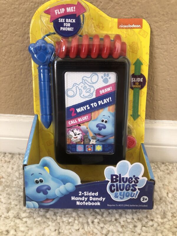 Blues Clues & You 2 - Sided Handy Dandy Notebook Draw & Call BLue 2020