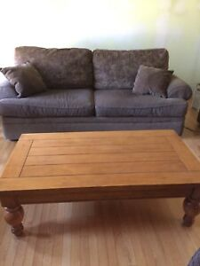 Further REDUCED!! Solid wood coffee and end tables