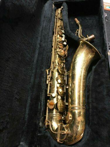 Buescher Aristocrat II Big B Tenor Saxophone Repaded and Serviced #VTS40
