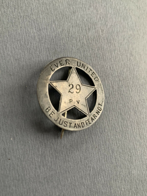 1863 Chancellorsville silver engraved 12th Corps Badge ID 29th PVI Pennsylvania