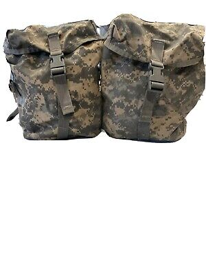 2 Sustainment Pouches MOLLE II ACU FOR US Army Military Rucksack Back Pack/GOOD