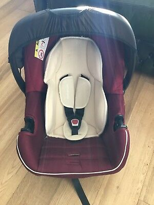 Mothercare Ziba Red & Cream Group 0+ Car Seat with Newborn Inserts