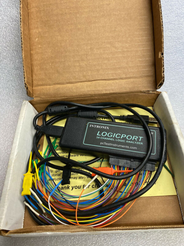 INTRONIX LA1034 LOGICPORT 34 CHANNEL LOGIC ANALYZER