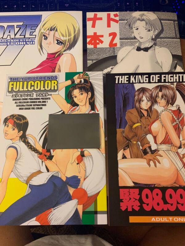 4 King of Fighters KOF Doujinshi Lot condition See Description Clean Crisp Mint