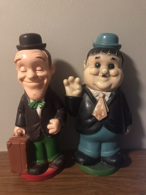 Laurel And Hardy Coin Bank Vintage 1972