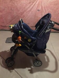 chicco stroller with a todler car seat