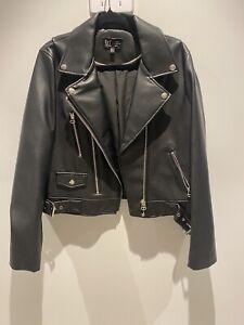 Zara Black Leather Jacket (Large)