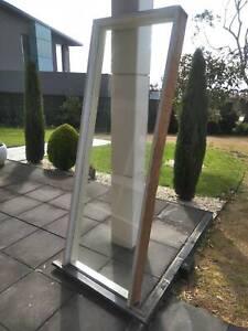 Solid wood frame window W74.6CmH211Cm 14cm Good condition