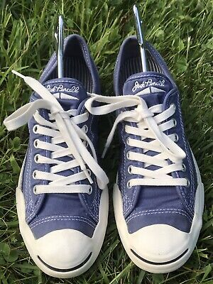 - Converse Jack Purcell Navy Blue Canvas Sneakers, SZ M 6.5  W 8.5, EUC 39.5