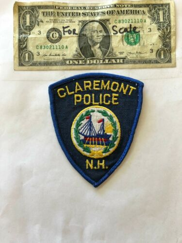 Claremont New Hampshire Police Patch pre-sewn in good shape