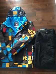 Quick Silver  ski jacket and Burton ski pants