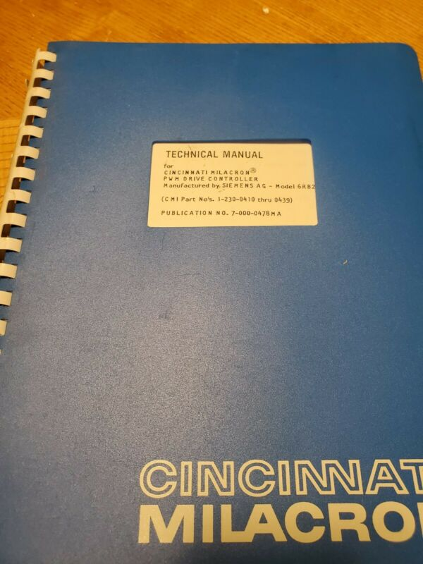 Cincinnati Milacron Technical Manual for PWM Drive Controller - Siemens AG 6RB2
