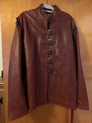 Game of Thrones Leather Jacket: Red, Jaime Lannister, Large/ Roughly 44L