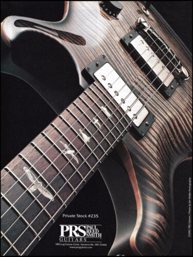 PRS Private Stock #235 electric guitar 2001 ad 8 x 11 advertisement print