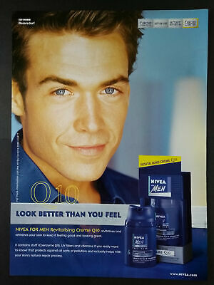 Usado, Nivea For Men - Face Care - Creme Q10 - Magazine Advert #B3902 segunda mano  Embacar hacia Spain