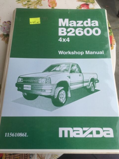 mazda b2600 4x4 factory workshop manual other books music games rh gumtree com au 1993 Mazda B2600i 4x4 93 Mazda B2600i